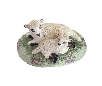 Basil Matthews Signed Hand Painted Sheep Lamb Sculpture Figurine
