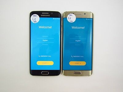 Lot of 2 Google Locked Samsung Galaxy S6 Edge G925T T-Mobile Check IMEI 5CR 332