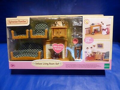 Sylvanian Families 5037 Luxus Wohnzimmer Kamin Deluxe Living Room Playmobil  Neu
