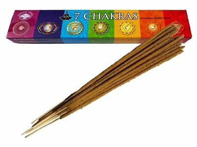 7 Chakra Incense Sticks/Joss Sticks | 15g Pack | Green Tree