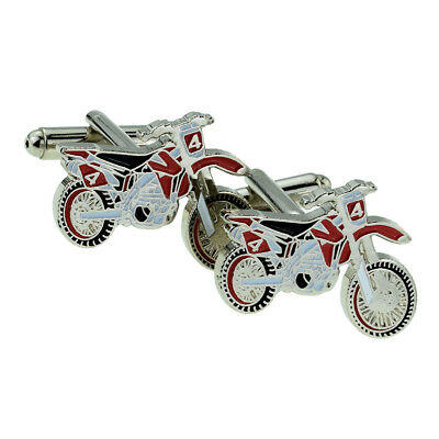 Trials Motorbike Cufflinks,  + upgrade to Engraved Personalised Case XJKC-B6-32