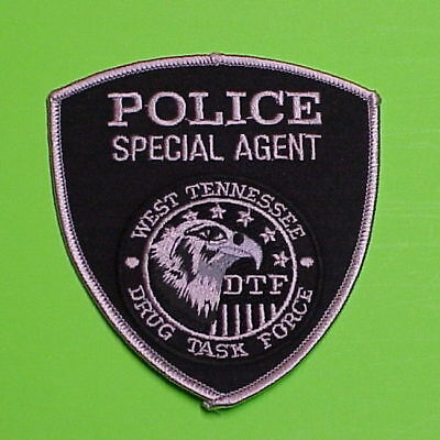 West Tennessee  Drug Task Force  Subdued  Tn  Police Patch   Free Shipping!!!