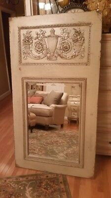 Habersham French Country Classic Trumeau Mirror in Muslin- Excellent Condition