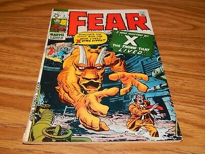 """KEY EARLY Bronze Age Horror Comic FEAR # 2 """"X The Thing That Lived"""" FN Condition"""