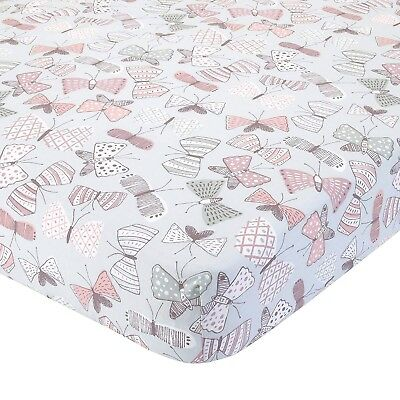 Dwell Studio Arden Butterfly Print Baby Girl Fitted Crib Sheet