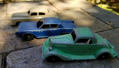 HUBLEY Lot of 3 Vintage Cars 404 1934 Ford  Coupe & 401 1960 Lincoln & Sedan