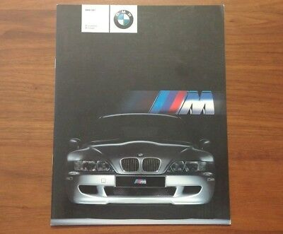 Bmw Brochure 2001 M Roadster Coupe Convertible E36 Z3 Motorsport Advertising