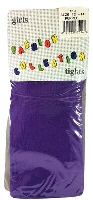 Fashion Collection Girls Purple Tights Size 12-14