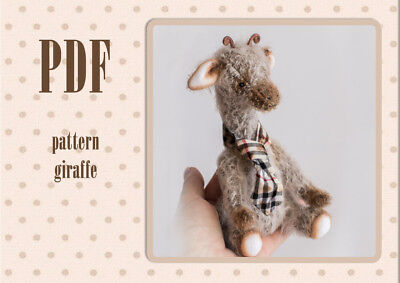Sewing Pattern for Teddy giraffe mohair for 7 inches