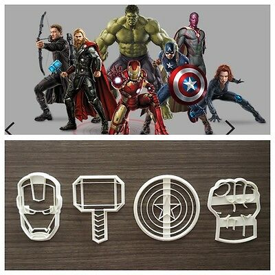 Formine Avengers Super Eroi Marvel Cookie Cutter Formina Per Pdz 8cm