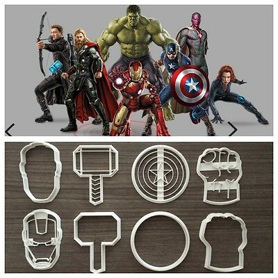 Formine Avengers Super Eroi Marvel Cookie Cutter Formina Biscotto + Pdz 8cm