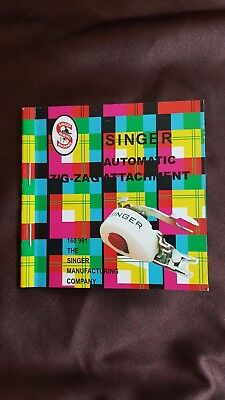 Singer Sewing Machine Automatic Zig Zag attachment Part no: 160991 MANUAL