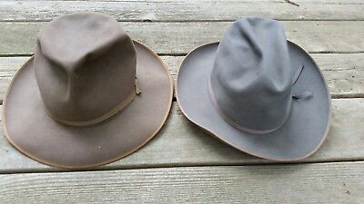 VINTAGE STETSON OPEN Road And Stratoliner Hats -  128.50  d849ddd2180