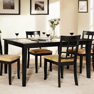 Weston Home Tibalt Black Dining Table - 60 in., Medium