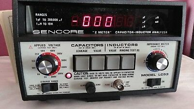 Sencore LC53 Capacitor Inductor Analyzer- Z Meter