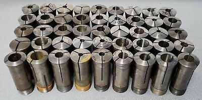 Lot of 45 Hardinge / Sutton / Other Brand Assorted 5C Collets - No Reserve