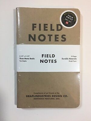 Field Notes 10th Anniversary Edition (Winter 2017) Sealed Notebook 3-Pack