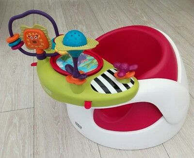 Mamas and papas baby snug Seat feed booster removable play tray floor red