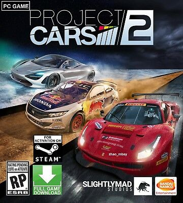 Project Cars 2 PC STEAM KEY GLOBAL (NO CD/DVD) Race Racing FAST DELIVERY!