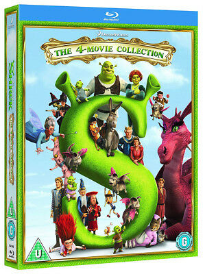 SHREK The 4-Movie Collection [Blu-ray] Complete Set 1 2 3 & Forever After