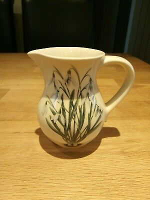 Holkham Pottery Cream Jug With Snowdrops