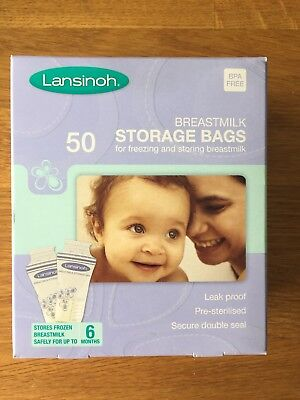 Lansinoh Breastmilk Storage Bags - Pack of 50 - new and box unopened