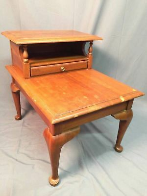Harden Solid Cherry Vintage End Accent Table Nightstand Rare Step Up Made In USA