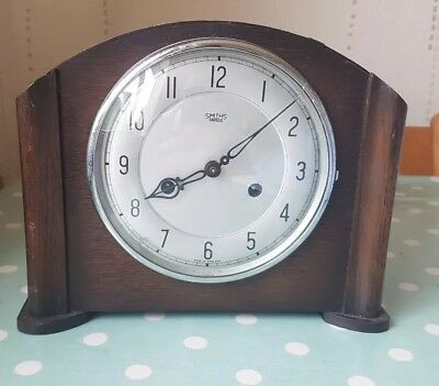 Smiths Enfield Mantle Clock spares or repair - please see pictures & description