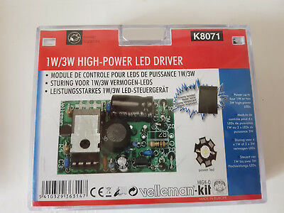 1W/3W HIGH POWER LED DRIVER K8071 By VELLEMAN KIT