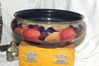 "moorcroft pomegranate BOWL 8 1/2""  x 3"""