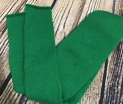 Vintage Green Tube Socks Thick BOLD Solid Over The Calf Size 8-12 St Patty's Day