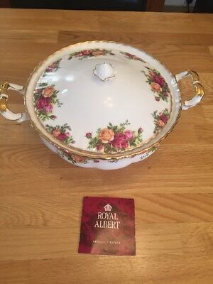 Royal Albert Old Country Roses Stunning Tureen,  England, 2nd Quality, 1962