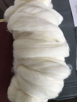 500g Natural White/cream Roving Wool Top. For Felting Or Spinning