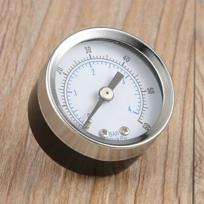 1/8'' NPT Air Compressor Hydraulic Pressure Gauge 0-60 PSI Back Mount