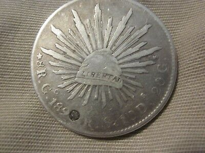 MEXICO 8 Reales Silver Mexican Coin Date Unsure (189?) LOOKS LIKE 1890?