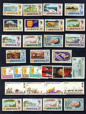 Jersey-1969 Defins Set Of 13 To £1+ All Other Pre Decimal Sets+Extras -Unm-Mnh