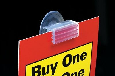 Suction Cup Sign Holder - Window Sign Holder - 10 Pieces