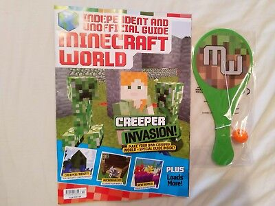 Minecraft World magazine #42 August 2018 + free gift: paddle ball toy game