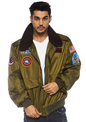 c194fe28226a Leg Avenue Top Gun Men S Nylon Bomber Jacket