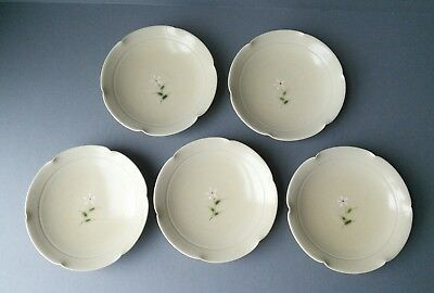 Japanese Studio Pottery Small Plates (x5) signed.