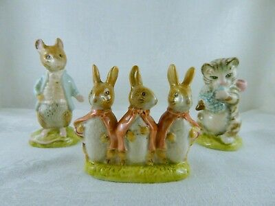 Beatrix Potter Miss Moppet, Johnny Town-Mouse & Flopsy, Mopsy & Cottontail
