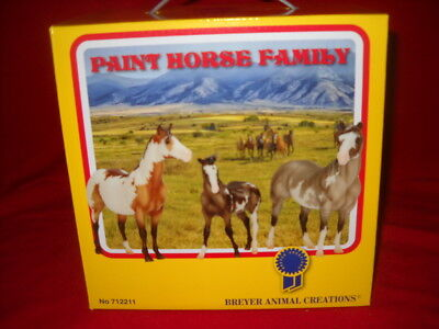 Breyer Paint Horse Family 2017 Vintage Club Blue Ribbon Set New In The Box