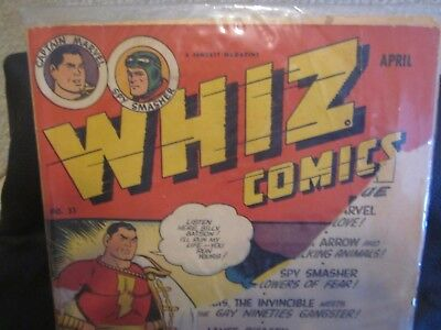 Whiz Comics #53 Golden Age Comic Book