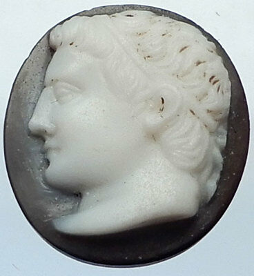 Authentic Ancient Genuine ROMAN AUGUSTUS PORTRAIT Onyx Cameo 1stCenAD ARTIFACT