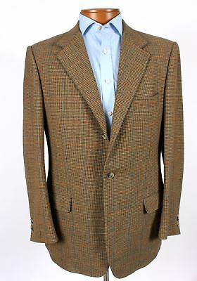 Ermenegildo Zegna 42L Brown Check Wool Cashmere Blazer Sport Coat Jacket 625