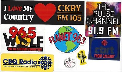 Radio Station Sticker Decal Set Assortment of 6