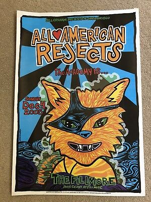2005 Fillmore All American Rejects, The Academy Is... Poster with Ticket