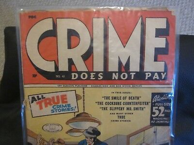 CRIME DOES NOT PAY #41 Lev Gleason Golden Age Comic Book
