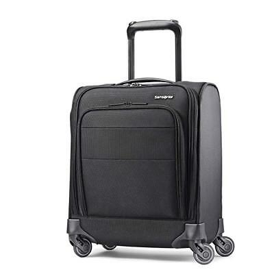 Samsonite Flexis Underseat Carry-on Spinner Carry-On Luggage, Jet Black