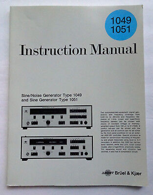 Bruel & Kjaer 1049, 1051 Instruction Manual, Used